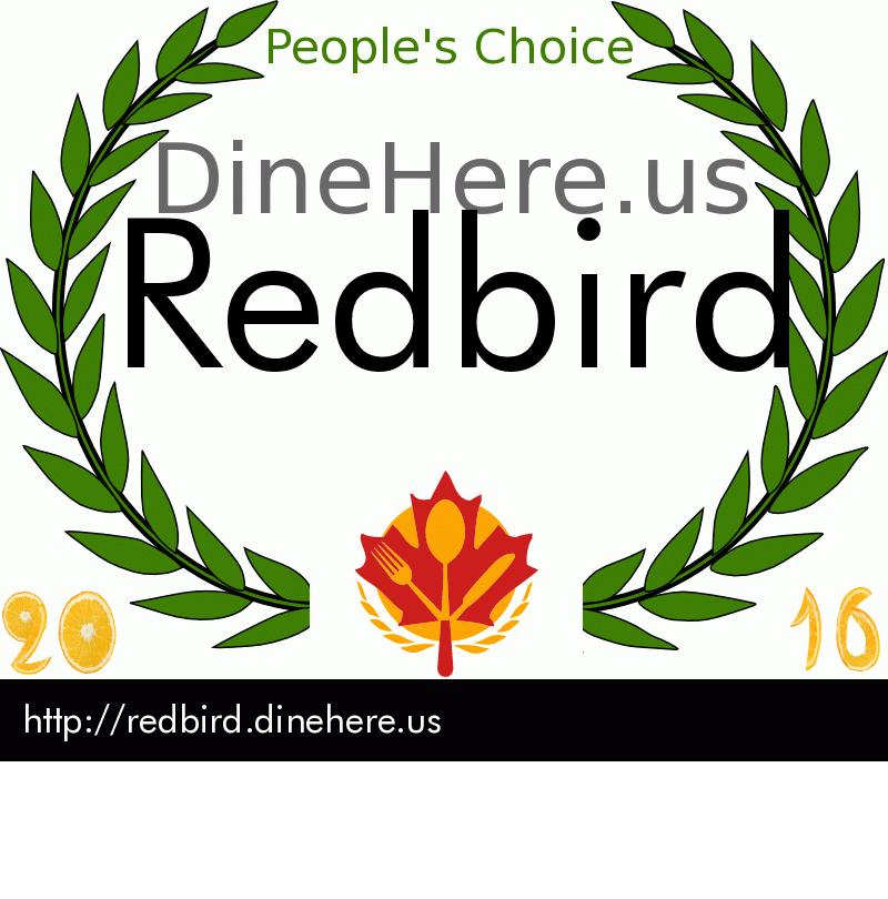 Redbird DineHere.us 2016 Award Winner